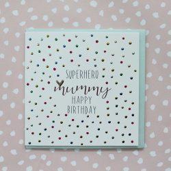 Molly Mae Card Super Hero Mummy Happy Birthday