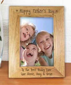 Personlised 5x7-happy-fathers-day-wooden-photo-frame