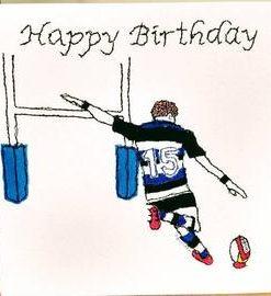 Happy Birthday Rugby Card