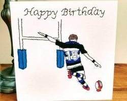 Happy Birthday Rugby Card
