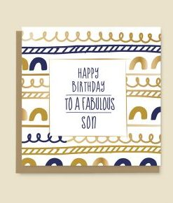 Happy Birthday Card Son