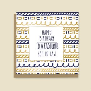 Happy Birthday Card Son in Law