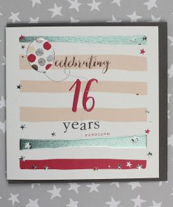 16 Years Birthday Card Male or Female