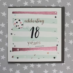 18 Years Birthday Card Male or Female