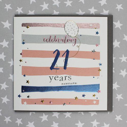 21 Years Birthday Card Male or Female
