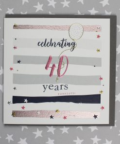 40 Years Birthday Card Male or Female