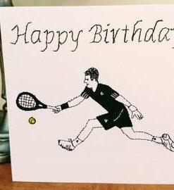Happy Birthday Tennis Card