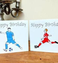 Happy Birthday Football Card