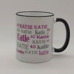 Personalised Name and Age Mug.