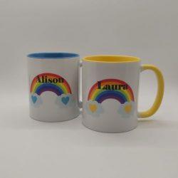 Rainbow Personalised Mug