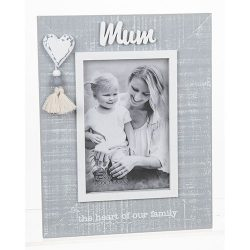 Cool Grey Tassle Frame Mum