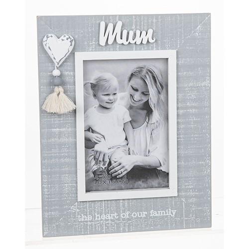 Cool Grey Tassle Frame Mum