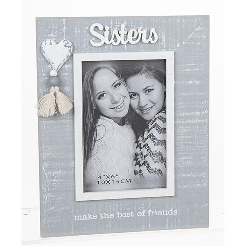 Cool Grey Tassel Frame Sister