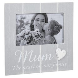Cool Grey Frame with heart Mum