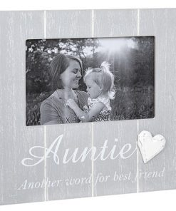 Cool Grey Frame with Heart Auntie