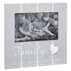 Cool Grey Frame with Heart Family
