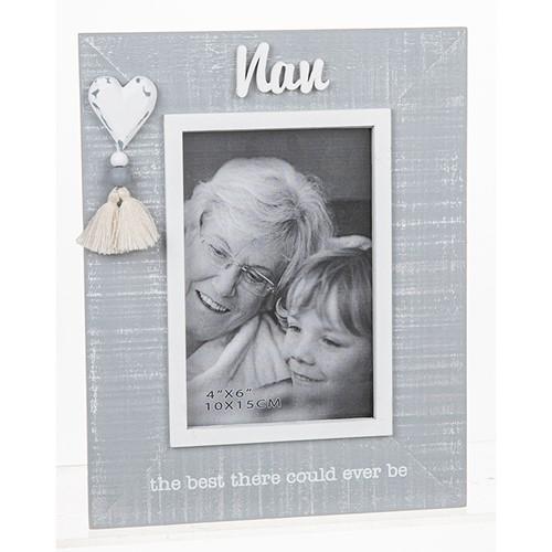 Cool Grey Tassel Frame Nan