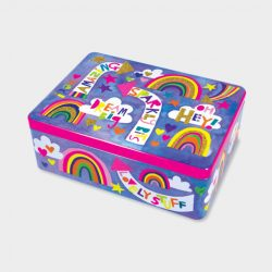 Rectangular Tin – Sparkly Bits/Rainbow