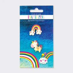 Set of Enamel Pins ‐ Unicorn/Rainbow