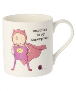 Rosie Made A Thing Knitting is my superpower mug