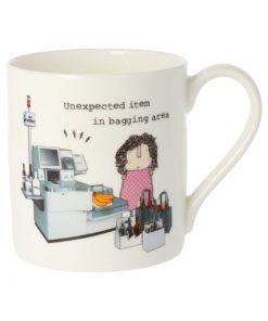 Unexpected item in bagging area mug