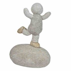 Boy Pebble Ornament