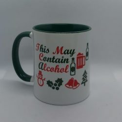 Personalised Christmas Eve Mug This May Contain Alcohol Male