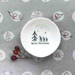 East of India 'Merry Christmas' Small Porcelain Bowl