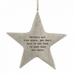 East of India 'Mothers' Rustic Hanging Star White