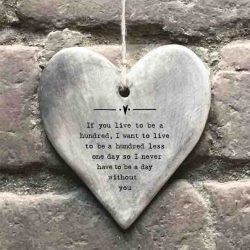 East of India 'One Hundred' Rustic Hanging Heart