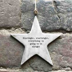 East of India 'Starlight' Rustic Hanging Star