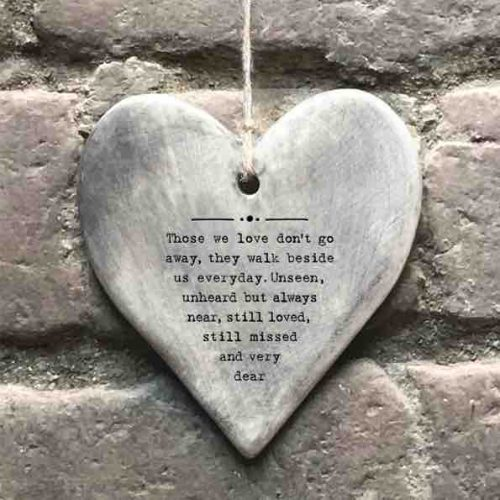 East of India 'Those We Love' Rustic Hanging Heart