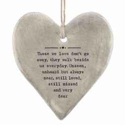 East of India 'Those We Love' Rustic Hanging Heart White
