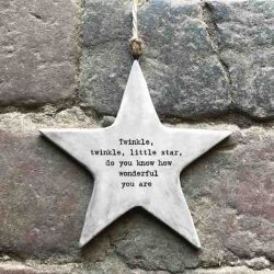 East of India 'Twinkle Twinkle' Rustic Hanging Star