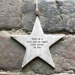 East of India 'Wish' Rustic Hanging Star