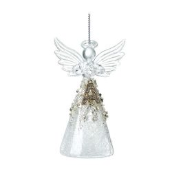 Glass Angel with an Alphabet Letter