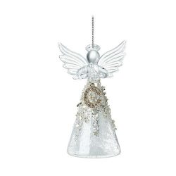 Glass Angel with anAlphabet Letter