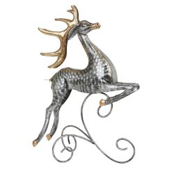 Metal-Leaping-Reindeer