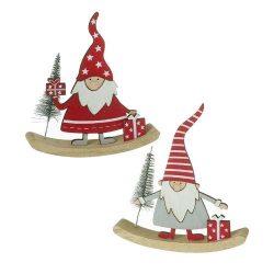 Rocking Wooden Santa Decoration