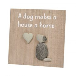 dog-makes-a-home-pebble-plaque