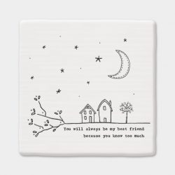 east-of-india-best-friend-porcelain-square-coaster-white