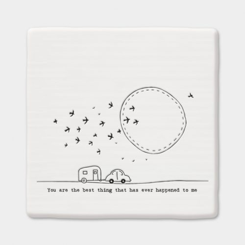 east-of-india-best-thing-porcelain-square-coaster-white