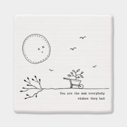 east-of-india-mum-porcelain-square-coaster-white
