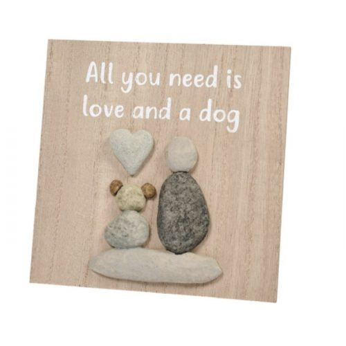 love-and-a-dog-pebble-plaque