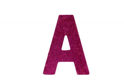 10cm-silver-pink-glitter-letters