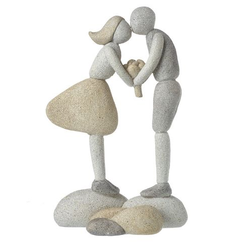 Girl and Boy on Resin Stones