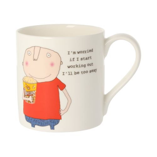 Rosie Made a Thing Exercise Sexy Man Mug
