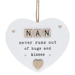 Scrabble Sentiment Hanging Heart Nan