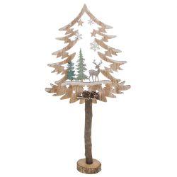 Frosty Forest Standing Tree Scene
