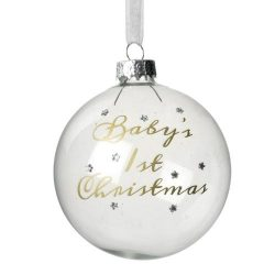 Baby's 1st Christmas Opaque Bauble